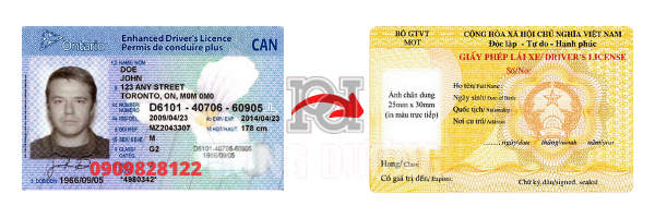 Đổi bằng lái xe Canada sang Việt Na