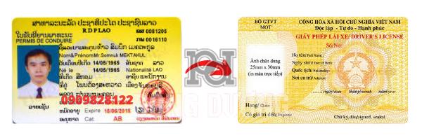 Đổi bằng lái xe Lào sang Việt Nam