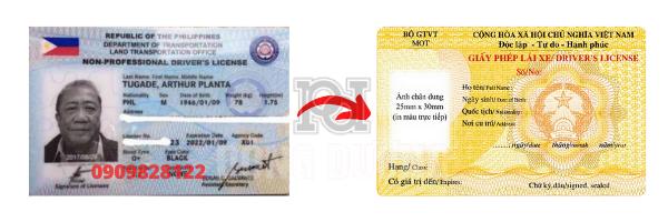Đổi bằng lái xe Philippines sang Việt Nam
