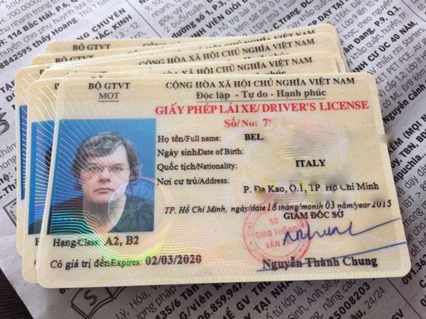 Hồ sơ đổi bằng lái xe người nước ngoài